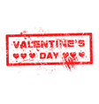 red Valentine grunge hearts stamp vector image