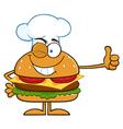Winking Chef Hamburger Cartoon vector image vector image