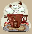 coffee city vector image