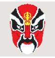 Geometric chinese mask vector image