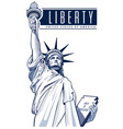 independence day statue of liberty usa nyc vector image
