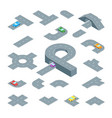 road element set isometric view vector image