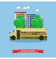 school bus in flat style vector image
