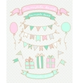 Sketches of birthday party elements vector image
