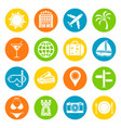 vacation icons set vector image