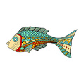 Zentangle stylized Fish vector image