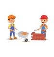 Builders kid vector image