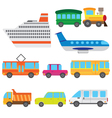 Cartoon vehicles vector image vector image