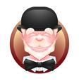Elderly gentleman avatar icon vector image