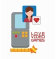 love video game portable girl character vector image