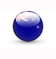 Round icon with national flag of New Zealand vector image