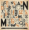 Various Retro Vintage Typography Collection vector image