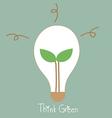 Ecology light bulb tree grow in a light bulb vector image vector image