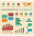 vintage retro infographics elements vector image