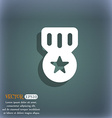 Award Medal of Honor icon symbol on the blue-green vector image