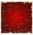 Red abstract background in grunge style vector image