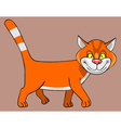 Cartoon good red cat vector image