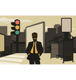 Business in the city vector image