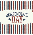 Independence Day Label for Holiday Design template vector image