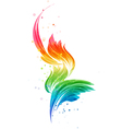 Abstract multicolored element vector image
