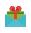 gift in envelope vector image