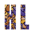 Beautiful floral alphabet letters K and L vector image