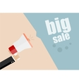 Big Sale Businessman hand holding a megaphone vector image
