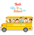 Children Enjoy On School Bus vector image