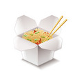 Chinese noodles isolated on white vector image