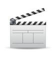 clapper board white cinema clapper vector image