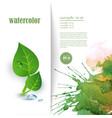 eco flyer vector image