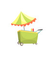 fast food kiosk on wheels market stall for vector image