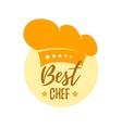 Hat best chef vector image