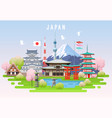 japan spring travel infographic vector image