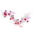 Romantic music background vector image