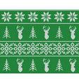 Scandinavian christmas winter seamless knitted vector image