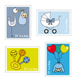 Stamps baby boy vector image