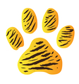 tigerfootprint vector image