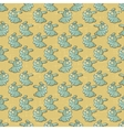 Vintage Cartoon Rabbits Pattern vector image