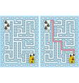 Easy bees maze vector image