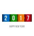 Happy New Year 2017 vector image