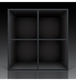 shelf black vector image vector image