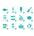 stylized shop food and drink icons 1 vector image