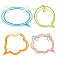 Set of cute bright speech bubbles with scotch tape vector image