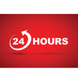 24 hours icon white vector image