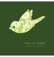 green and golden garden silhouettes bird vector image