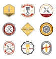 Repair Workshop Emblems Colored vector image