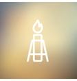 Gas Pump thin lihe icon vector image