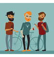 Three young boy hipsters vector image vector image