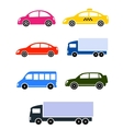 colorful cars set vector image